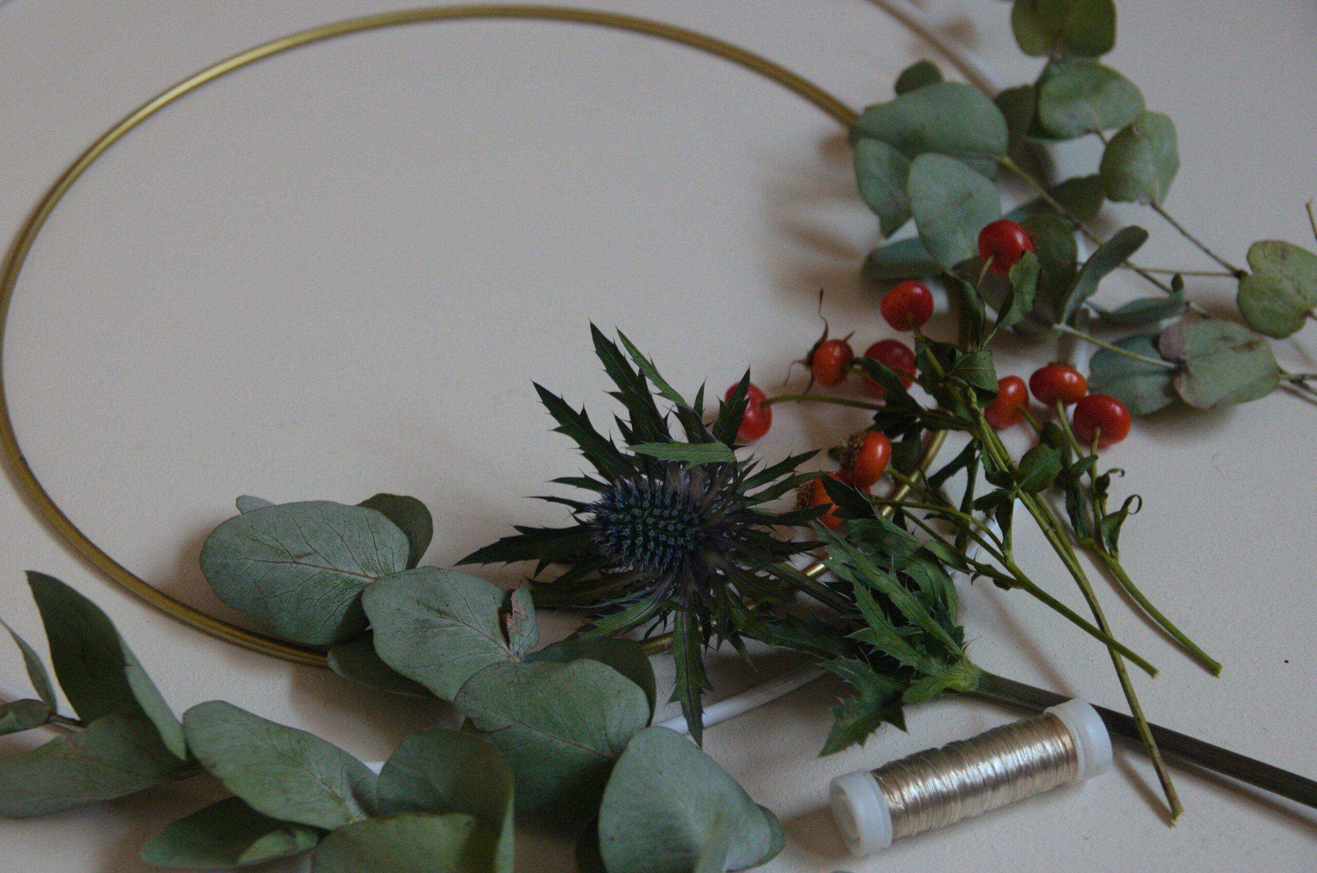 Kranz aus Trockenblumen: Coole Deko im Handumdrehen