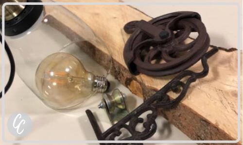 Wandlampe Holz